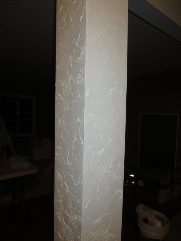 Freshly painted columns