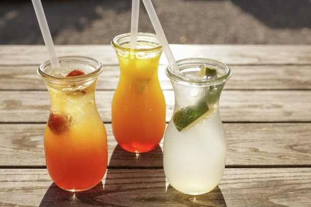 Canva - Refreshing Drinks in Glasses